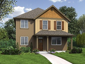 The Clark Custom Home Plan Rendering
