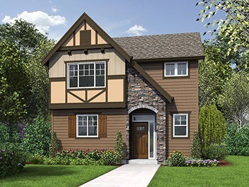 The Lewis Home Plan Rendering