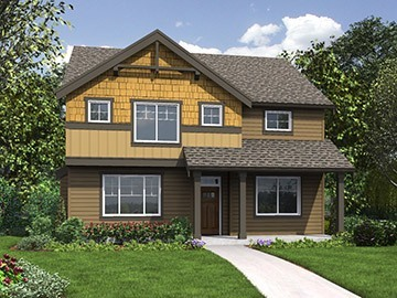 The Monticello Home Plan - Main Rendering